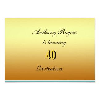 Fiesta del cumpleaños de los hombres elegantes de invitación 12,7 x 17,8 cm