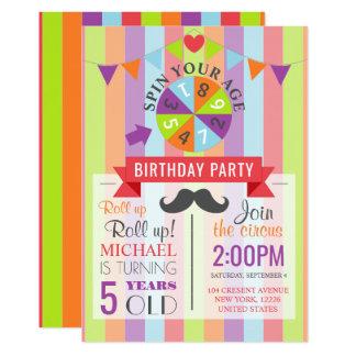 Fiesta del cumpleaños de los niños del poster del invitación 12,7 x 17,8 cm