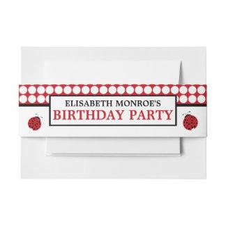 Fiesta del cumpleaños de los niños rojos de la cintas para invitaciones