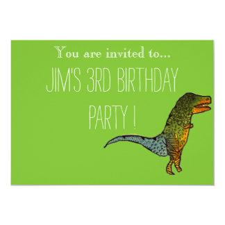 Fiesta del cumpleaños del muchacho joven del invitación 12,7 x 17,8 cm