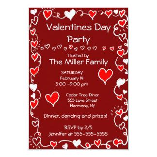 Fiesta del día de San Valentín Invitación 8,9 X 12,7 Cm