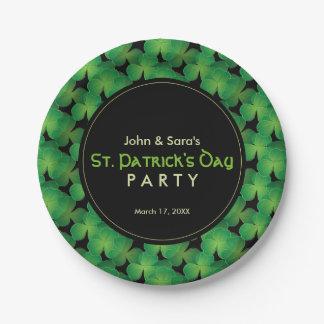 Fiesta del día de St Patrick personalizado, Plato De Papel