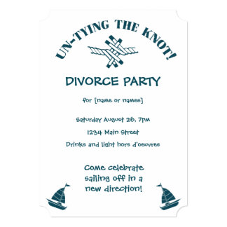Fiesta del divorcio divertido desatando la invitación 12,7 x 17,8 cm