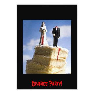 Fiesta del divorcio invitación 12,7 x 17,8 cm