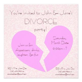 Fiesta del divorcio comunicado personal