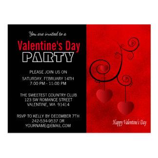 Fiesta del el día de San Valentín Postal