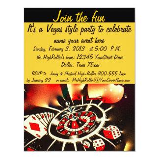 Fiesta del estilo de Las Vegas Invitación 10,8 X 13,9 Cm