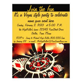Fiesta del estilo de Las Vegas Anuncio Personalizado