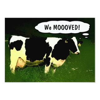Fiesta del estreno de una casa de la vaca del país invitación