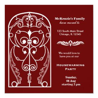 Fiesta del estreno de una casa de la ventana del invitación 13,3 cm x 13,3cm