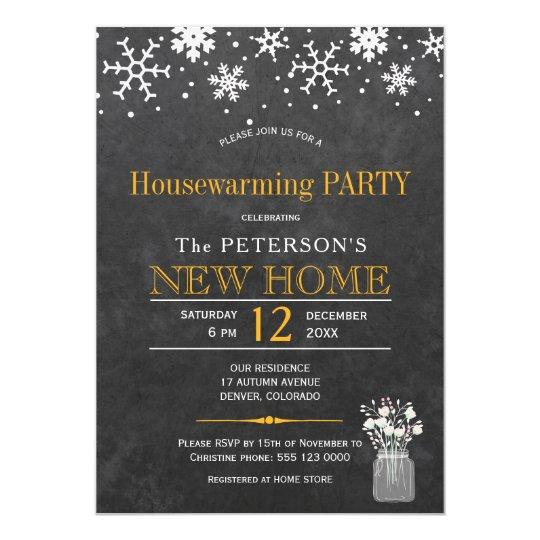Fiesta del estreno de una casa del invierno de la invitación 12,7 x 17,8 cm