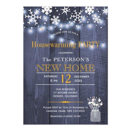 Fiesta del estreno de una casa del invierno de las invitación 12,7 x 17,8 cm