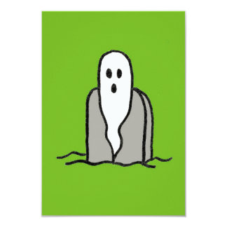 Fiesta del fantasma en la invitación verde