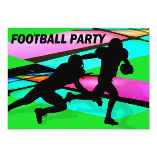 Fiesta del fútbol de las luces del Gridiron Invitación 12,7 X 17,8 Cm