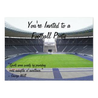 Fiesta del fútbol invitación 12,7 x 17,8 cm