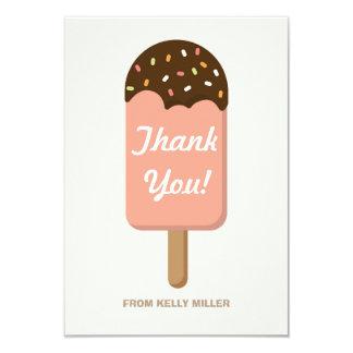 Fiesta del helado - gracias invitación 8,9 x 12,7 cm