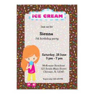 Fiesta del helado invitación 12,7 x 17,8 cm