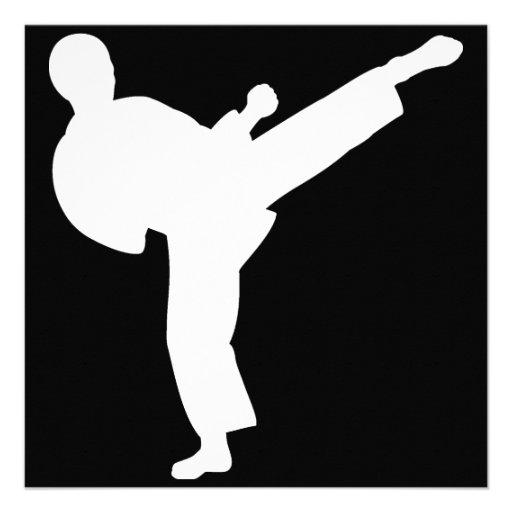 Fiesta del karate invitacion personal