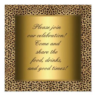 Fiesta del oro del leopardo de la invitación del