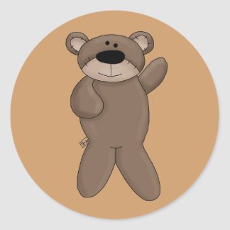Fiesta del oso de peluche, regalo, pegatinas pegatina redonda