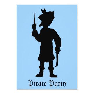 Fiesta del pirata de los niños invitación 12,7 x 17,8 cm