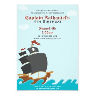 Fiesta del pirata invitación 12,7 x 17,8 cm