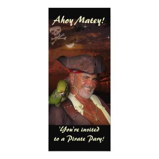 Fiesta del pirata invitación 10,1 x 23,5 cm