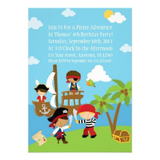 Fiesta del pirata - invitaciones personalizadas de de Zazzle.es