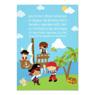 Fiesta del pirata - invitaciones personalizadas invitación 12,7 x 17,8 cm