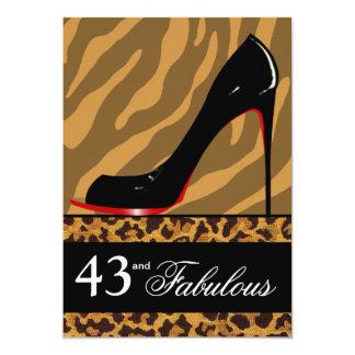 Fiesta del safari del cumpleaños del estilete del invitación 12,7 x 17,8 cm
