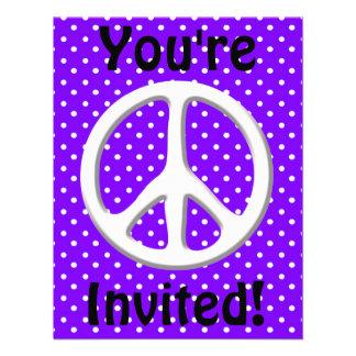 Fiesta del signo de la paz en púrpura anuncios personalizados
