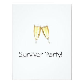 Fiesta del superviviente invitación 10,8 x 13,9 cm