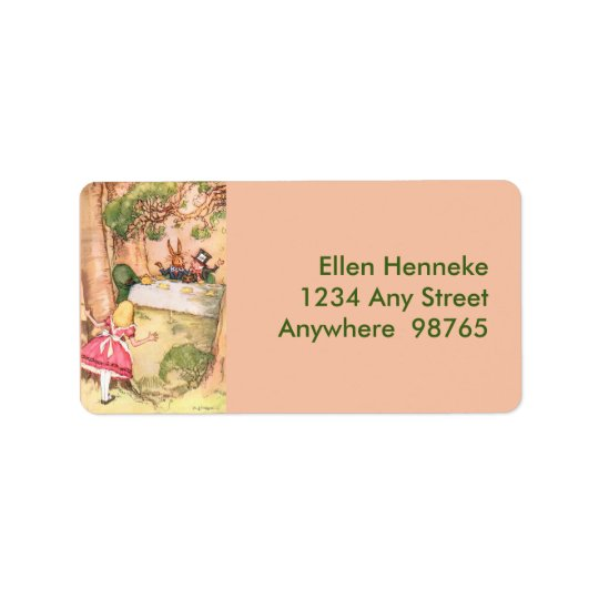 Fiesta del té 4 etiquetas de dirección