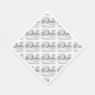 Fiesta del té Alicia en las servilletas de papel