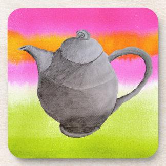 Fiesta del té de los arty de la tetera del arco posavasos de bebidas