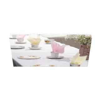 Fiesta del té del vintage impresión en lienzo