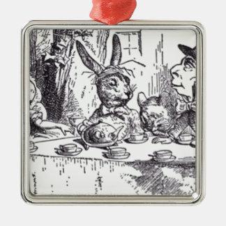 Fiesta del té enojada del sombrerero adorno de cerámica