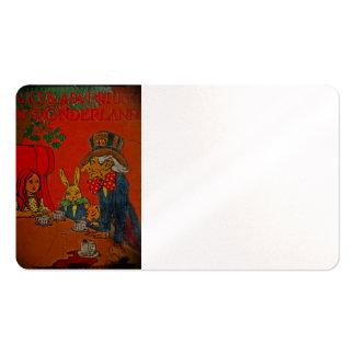 Fiesta del té enojada del sombrerero tarjetas de visita