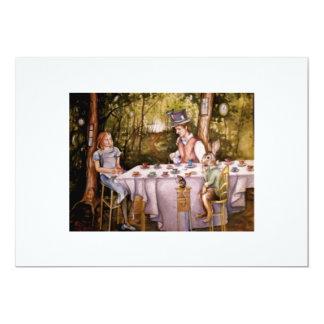 Fiesta del té enojada invitación 12,7 x 17,8 cm