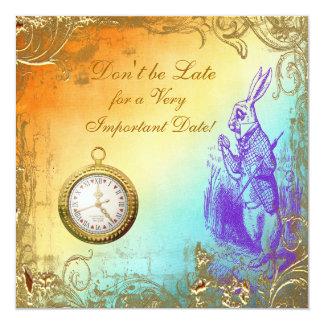 Fiesta del té nupcial de la ducha del conejo invitación 13,3 cm x 13,3cm