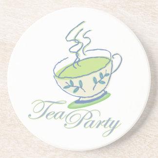 Fiesta del té posavasos de arenisca