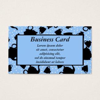 Fiesta del té que cae tarjeta de negocios