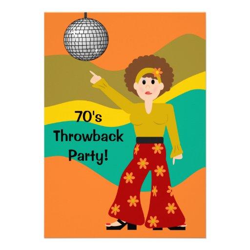Fiesta del tema del disco de los a os 70 invitaci n 12 7 x - Fiesta disco anos 70 ...