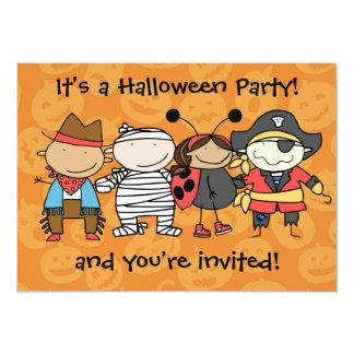 Fiesta del traje de Halloween de los niños Invitación 12,7 X 17,8 Cm