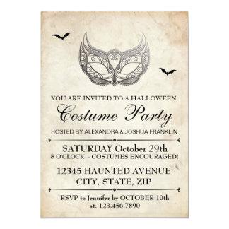 Fiesta del traje de Halloween Invitación 12,7 X 17,8 Cm