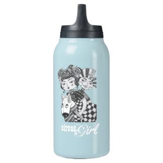 Fiesta del traje del chica del circo botella de agua