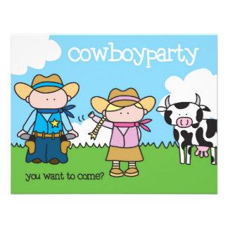 Fiesta del vaquero - invitación