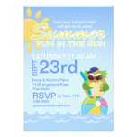 Fiesta del verano con el búho lindo comunicado