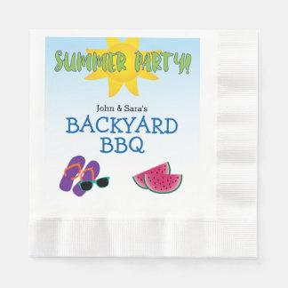 Fiesta del verano con la sandía y Sun, Servilletas Desechables