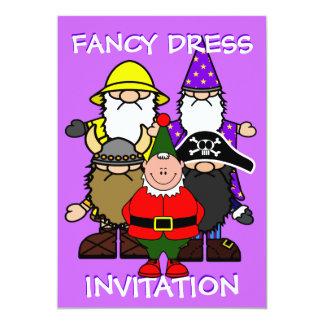 Fiesta del vestido de lujo invitación 12,7 x 17,8 cm